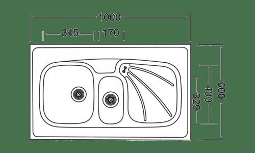 سینک ظرفشویی لتو مدل TL-10