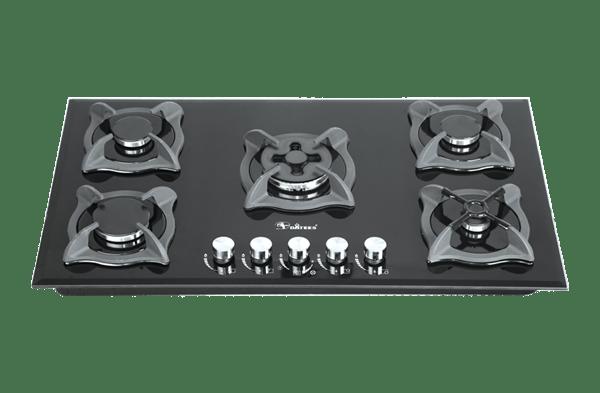 DG-525 Dual گاز توکار 5 شعله شیشه نشکن داتیس مدل