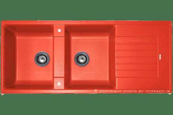مشخصات سینک گرانیتی مکاپا مدل کوادور قرمز