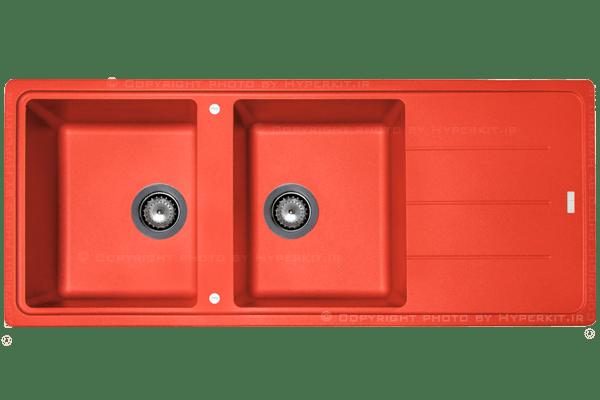 سینک گرانیتی مکاپا مدل misturado قرمز