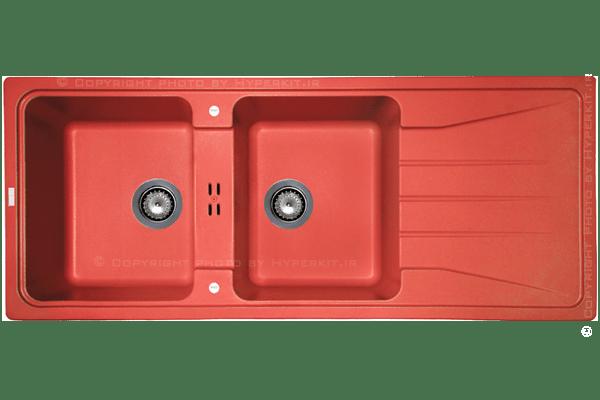 سینک گرانیتی ماپا مدل Preto قرمز