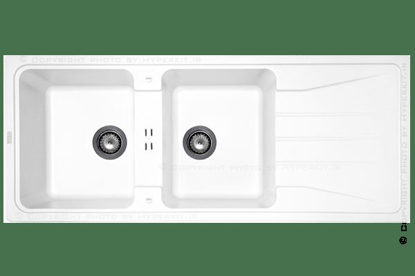 سینک گرانیتی ماپا مدل Preto سفید