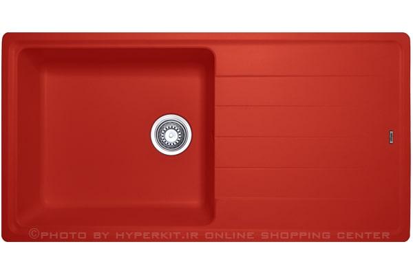 سینک گرانیتی مکاپا مدل سولیدو 100 قرمز