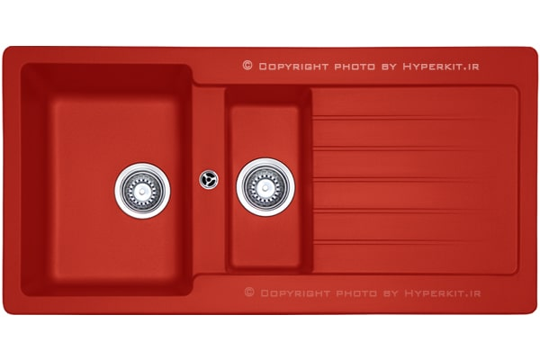 سینک گرانیتی مکاپا مدل سولیدو 150 قرمز