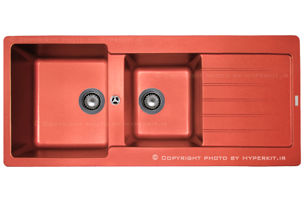 سینک گرانیتی مکاپا مدل سولیدو قرمز