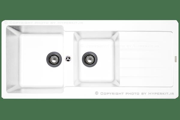 سینک گرانیتی مکاپا مدل سولیدو سفید