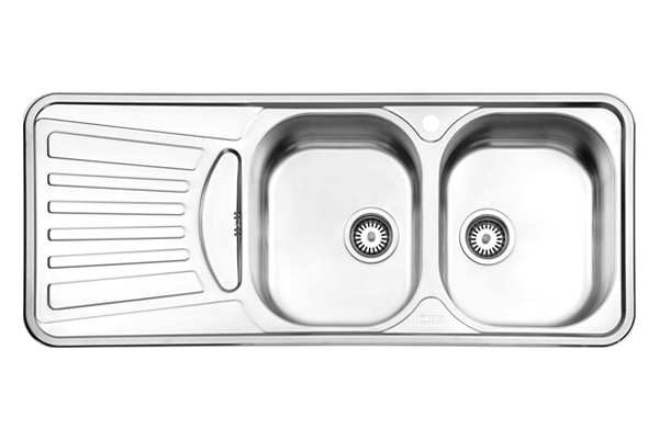 سینک دو لگنه توکار استیل البرز مدل 725