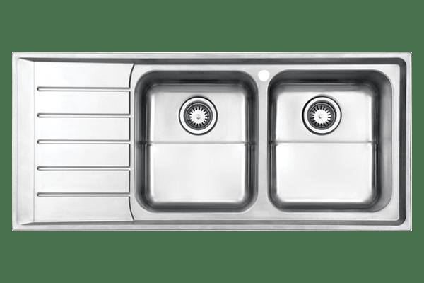 سینک دو لگنه توکار استیل البرز مدل 735