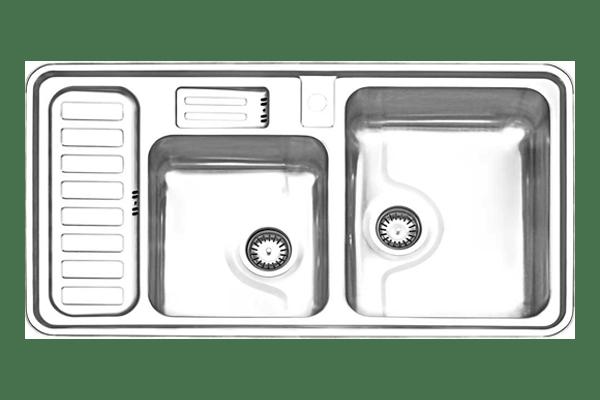 سینک دو لگنه توکار استیل البرز مدل 812
