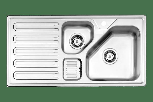 سینک دو لگنه توکار استیل البرز مدل 824
