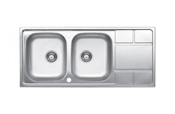TX63 سینک آشپزخانه 2 لگنه سایز 120 لتو مدل